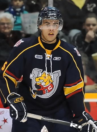 Vancouver Canucks prospect played in parts of three seasons with the Barrie Colts of the Ontario Hockey League. The Canucks signed the left winger to an entry level deal in December.