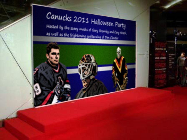 Canucks Halloween Red Carpet