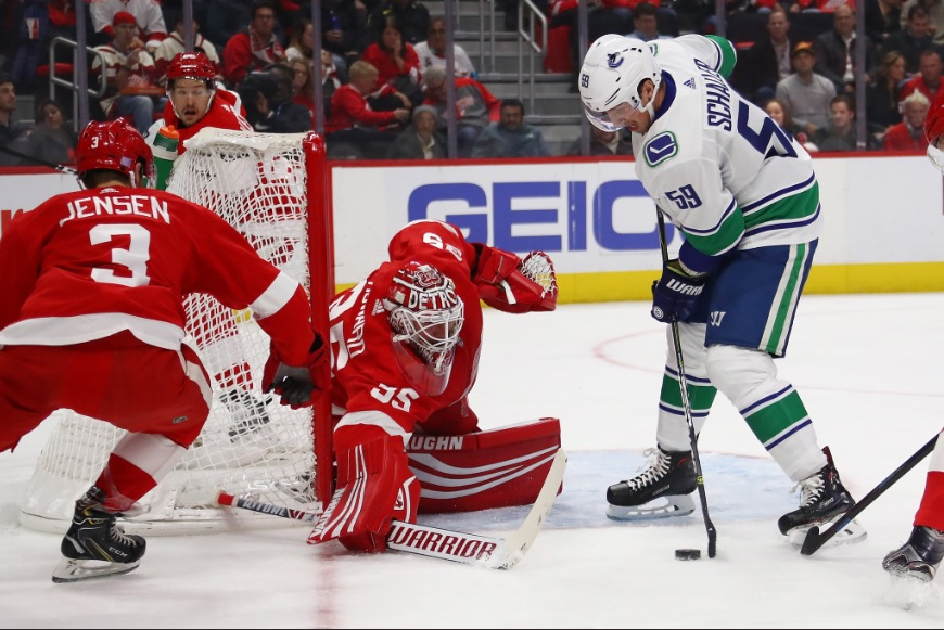 9c43a2df520 Vancouver Canucks vs Detroit Red Wings Post Game Recap  Shot Out Of The Sky