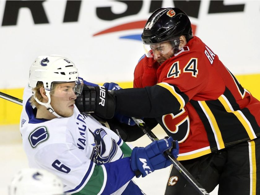 478b0a2e534 Vancouver Canucks at Calgary Flames Post-Game Recap  Flame On ...