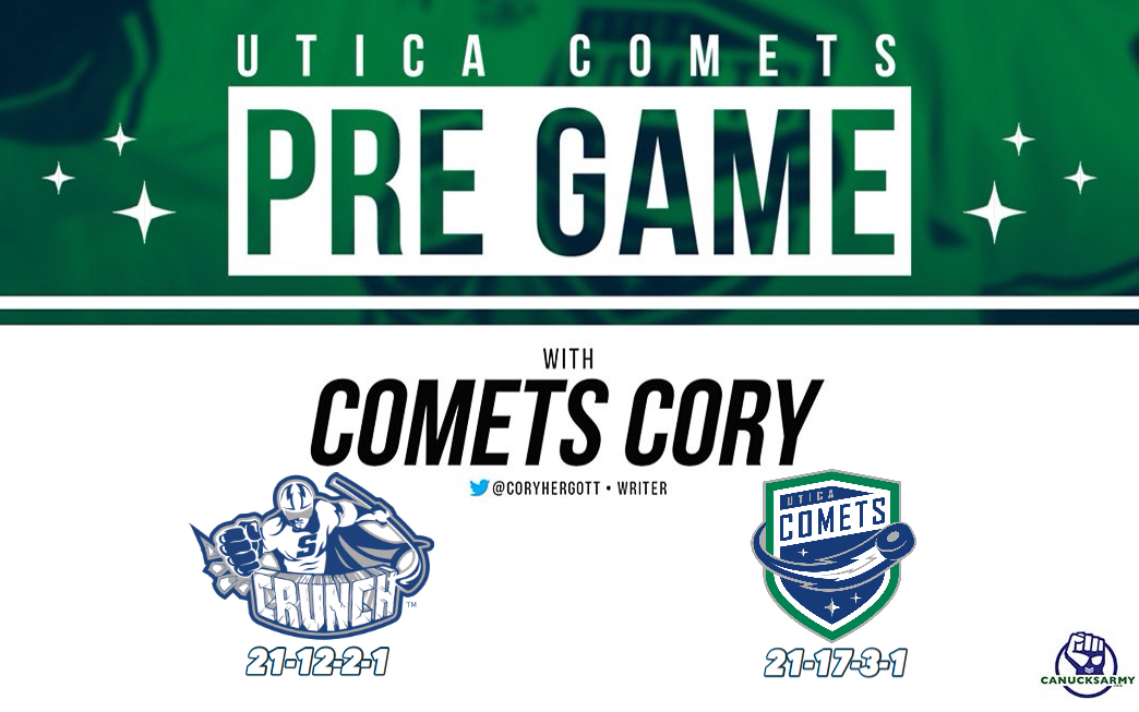 0d6076312 CanucksArmy Utica Comets Pre-Game  Game  43