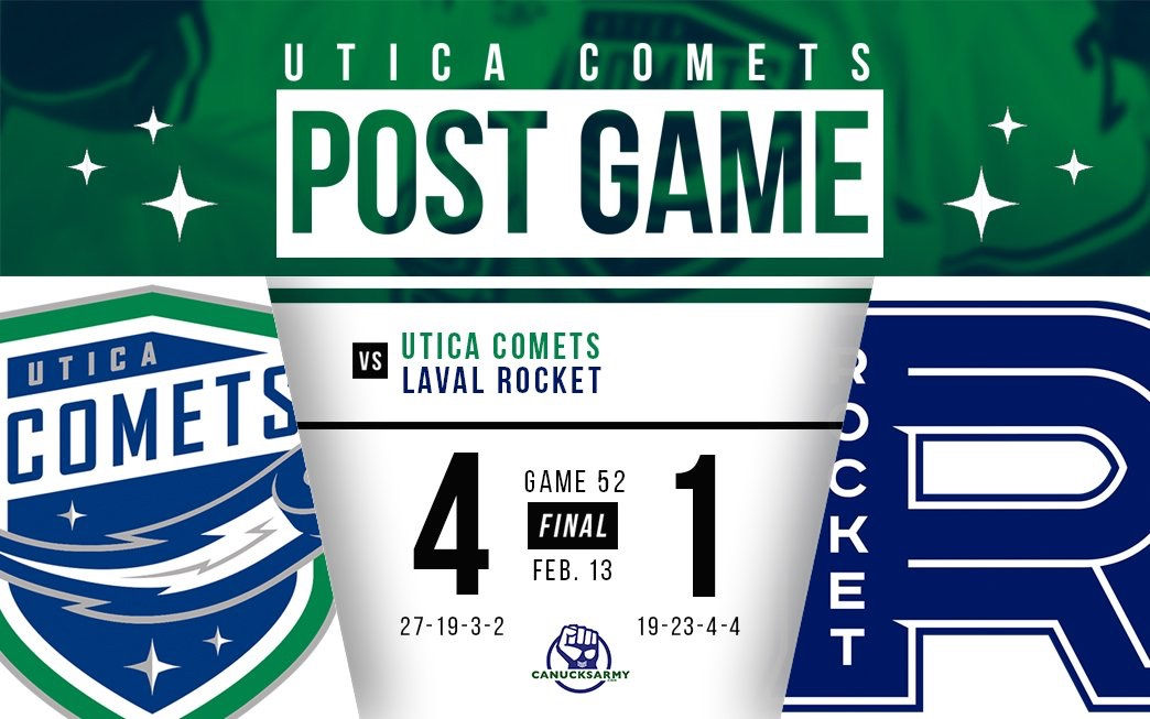 Game: Comets Skate Away With 4-1 Win Over Laval