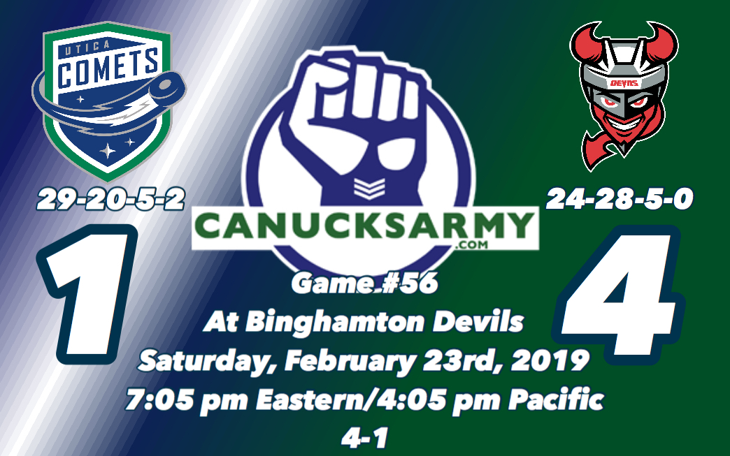 CanucksArmy Utica Comets Post-Game  Penalty Trouble Kills Comets ... a18529102