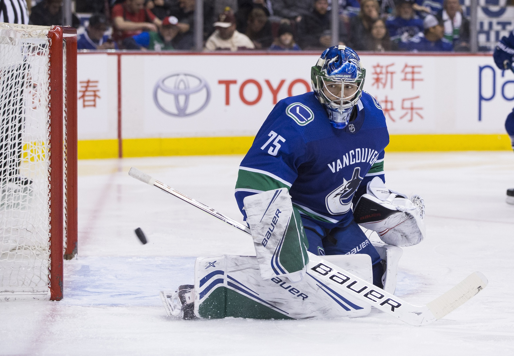 Thatcher Demko in concussion protocol, Mikey DiPietro called up from AHL Utica