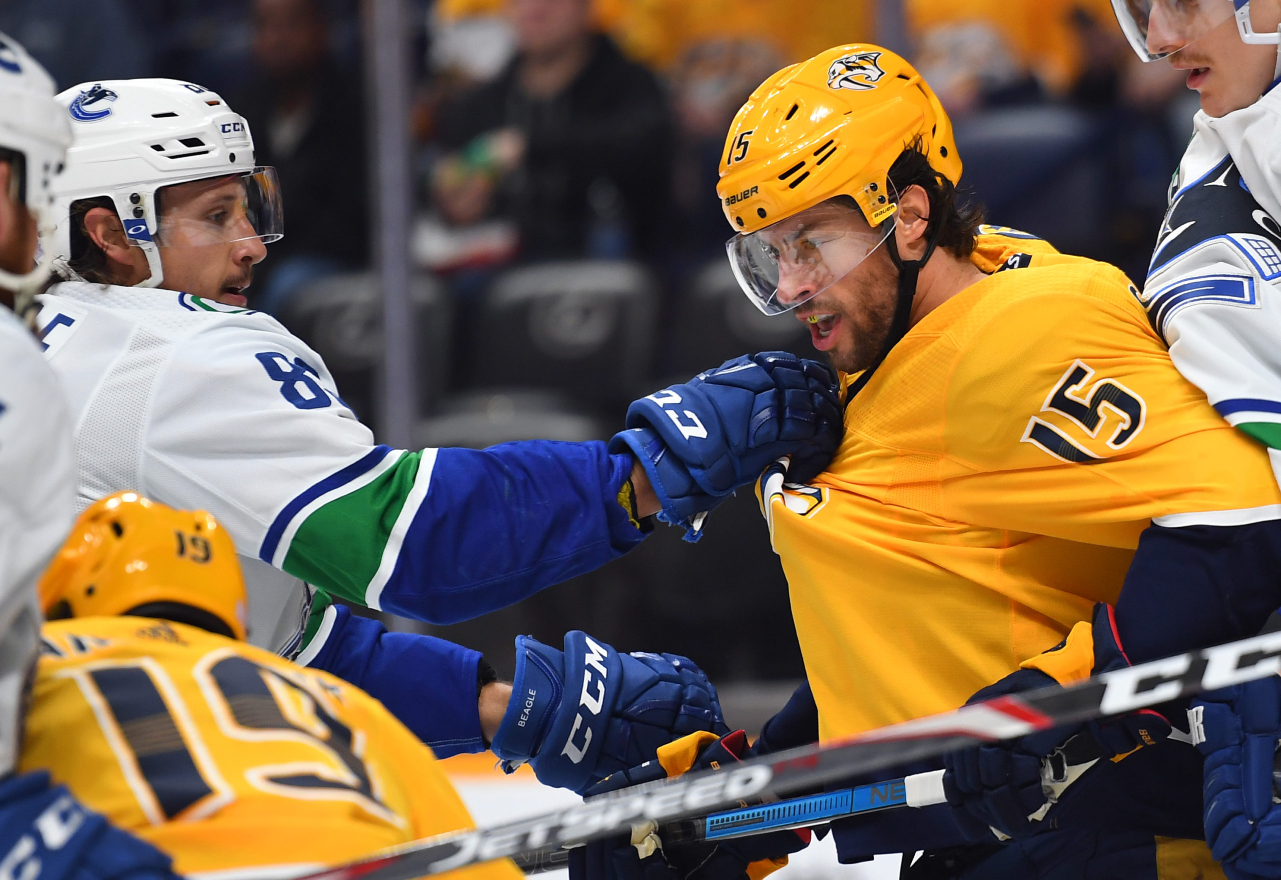 The Canucks Miss Sutter and Beagle